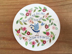 Hannah Dunnett - For I Know the Plans Coaster