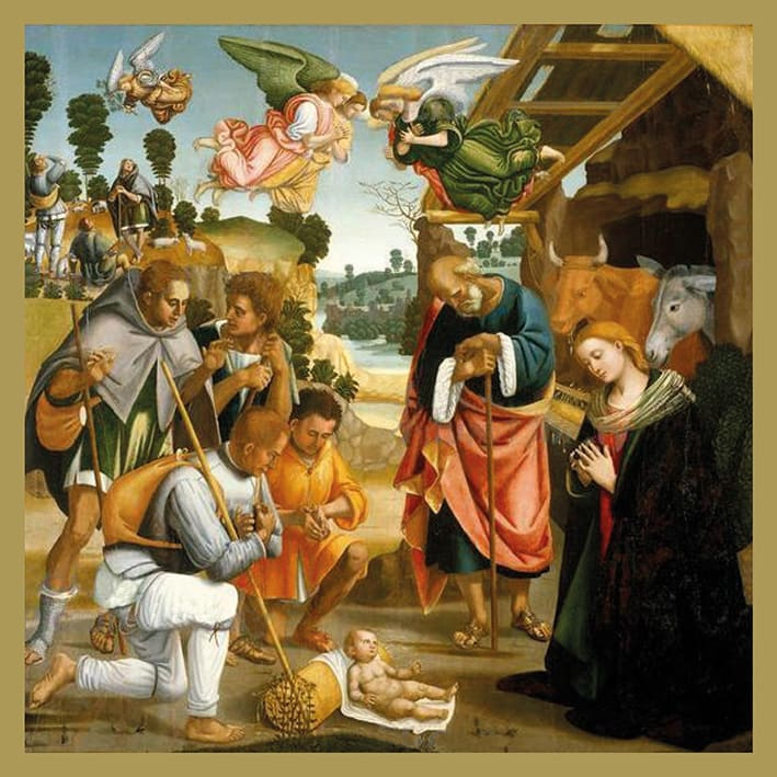 The Adoration of the Shepherds, 5 Pack Christmas Cards