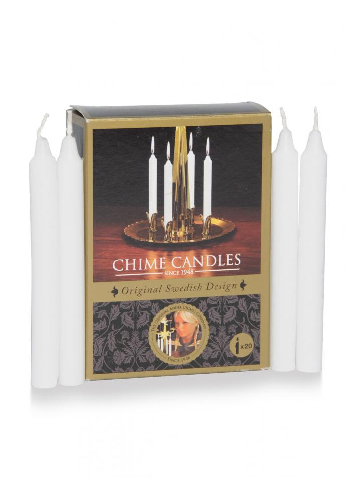 Angel Chime Candles Replacements - 20 White Candles
