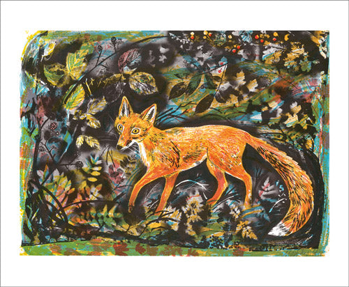 Autumn Fox Blank Card