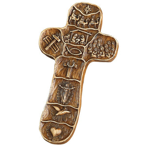 Christ Story Palm Cross