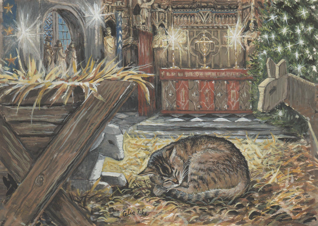 Doorkins Magnificat Asleep in the Crib - Christmas Card