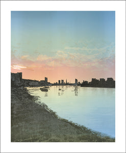 Greenwich Pier, West Blank Card