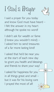 Prayer Card - I Said A Prayer