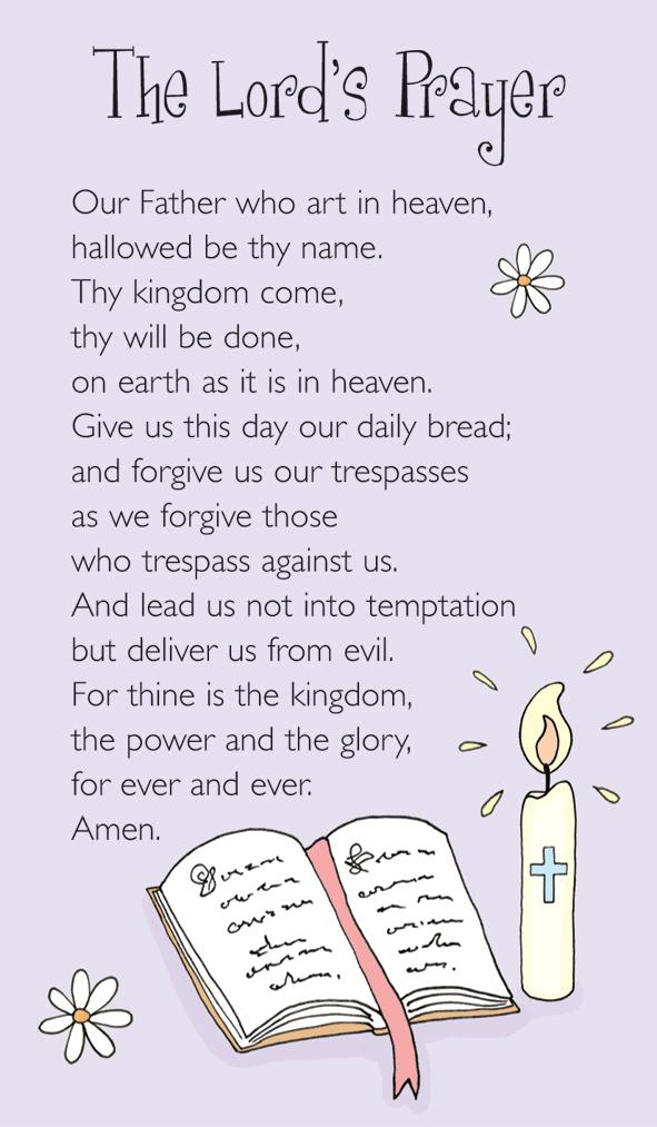Prayer Card - The Lords Prayer