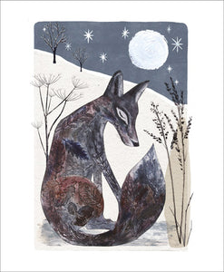 Midnight Fox Blank Card