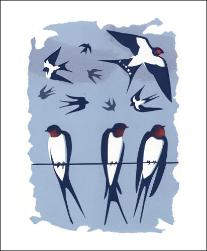 Swallows (Tweet of the Day) Blank Card