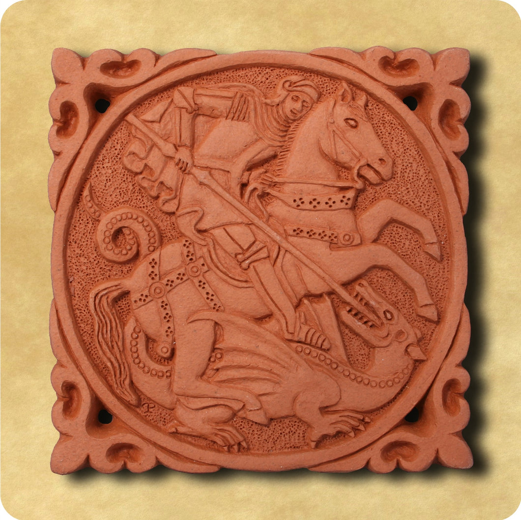 Decorative Tile - Saint George and the Dragon