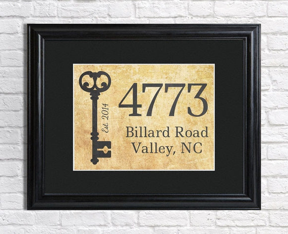 Our First Home with Address Personalized Framed Print