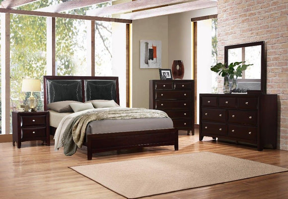 Boston Twin Bed with Faux Leather Headboard - MYCO BS450-T