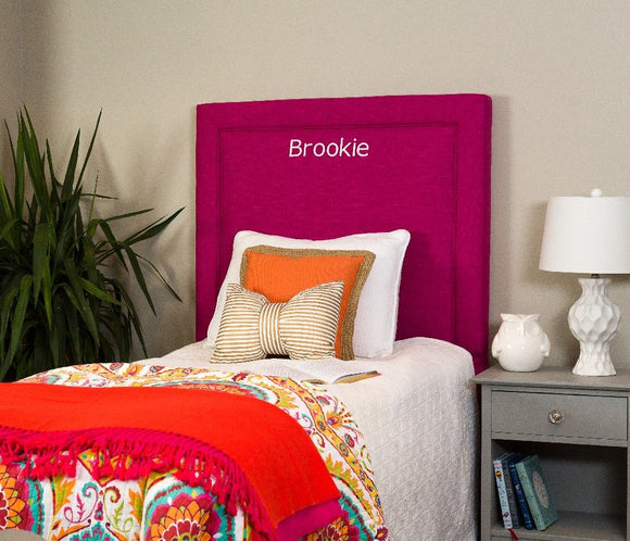 All Mine Personalized Twin Upholstered Headboard in Urban Raspberry - Leffler Home 20000-21-64-03