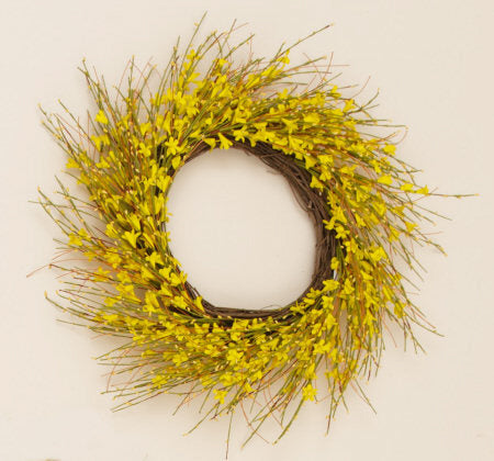 Wreath - Forsythia - With Twig Base