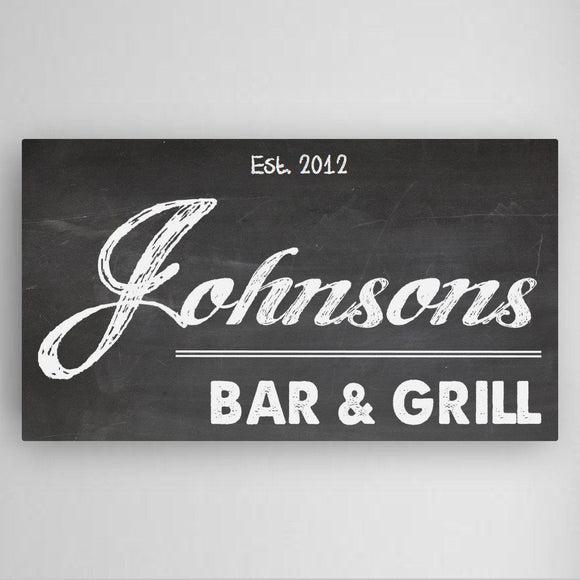 Home Bar Canvas Sign