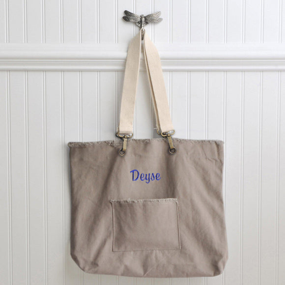 Personalized Canvas Tote Bags - 4 Colors