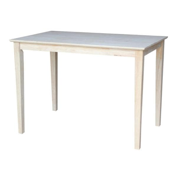 Unfinished Solid Wood Counter Table Today Decor Llc