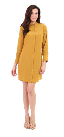 Shirtdress in Goldstar