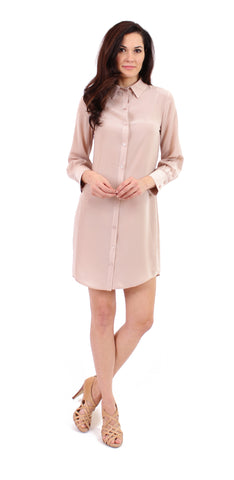 Shirtdress in Nude