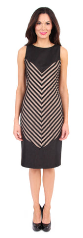Chevy Stripe Dress in Black