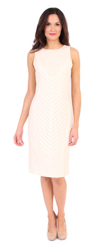 Chevy Stripe Dress in Ivory