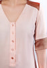 Anna Asymmetrical Top in Peach