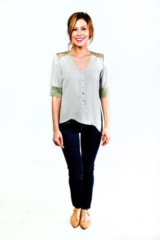 Anna Asymmetrical Top in Green