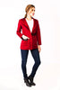 Kels Blazer in Netting Red