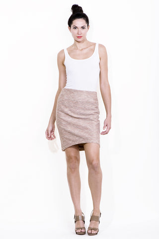 Italian Knit Skirt in Rose