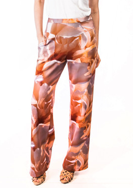 Custom Print Colleen Pant in Peach Floral