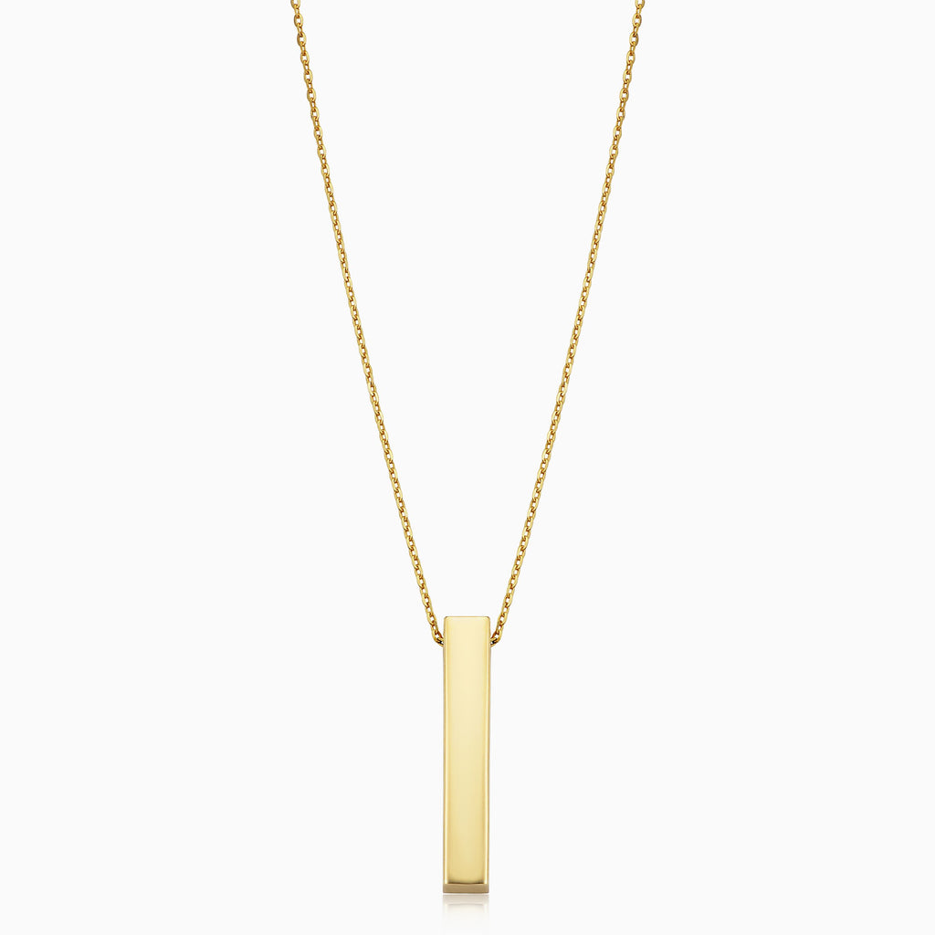 Brooklyn Bar Pendant Necklace