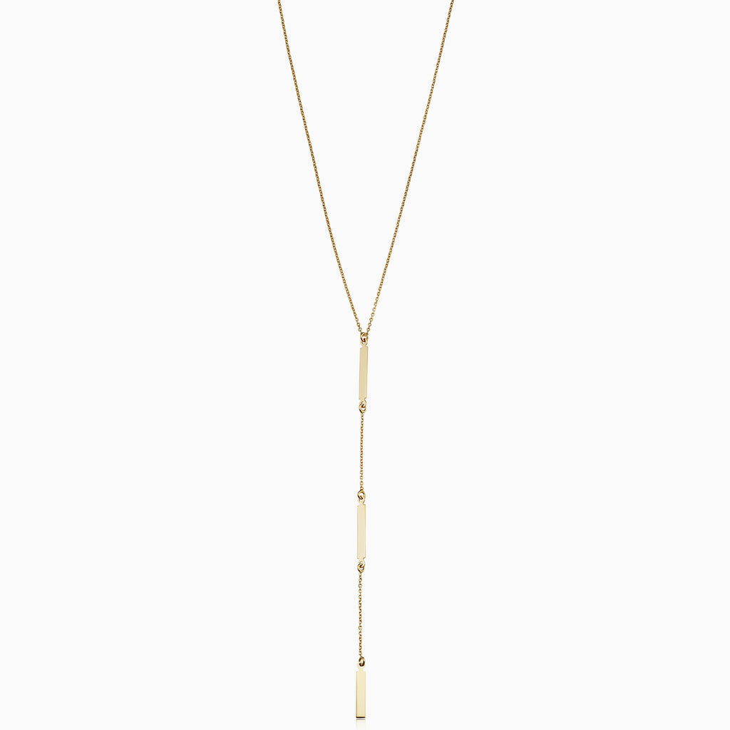 Brooklyn Bar Station Drop Necklace