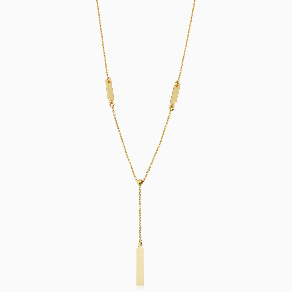 Brooklyn Bar Drop Necklace