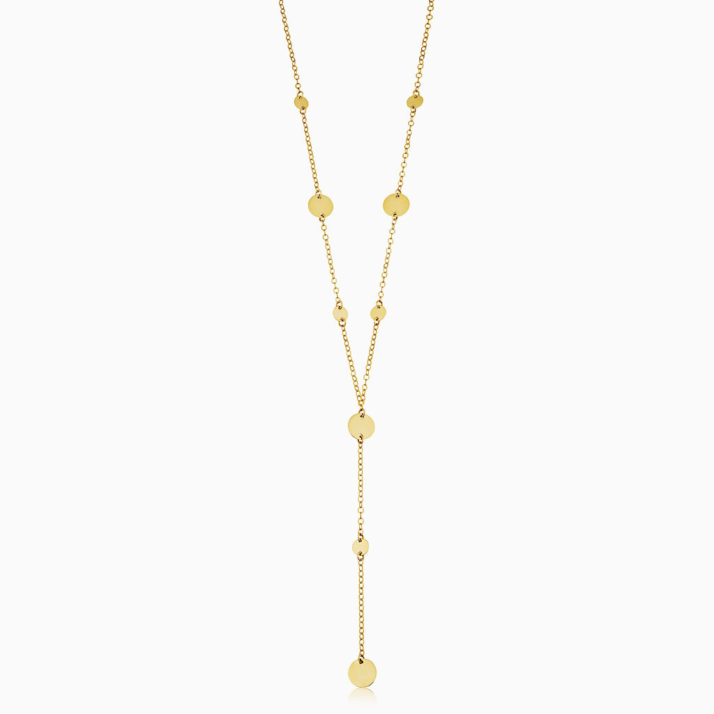 Manhattan Lariat Station Necklace