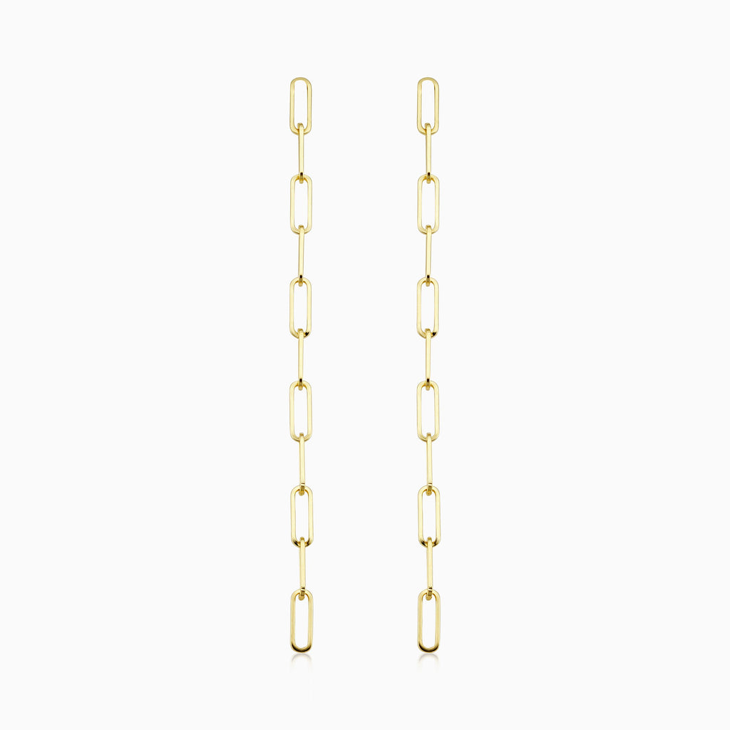Venice Link Dainty Drop Earrings