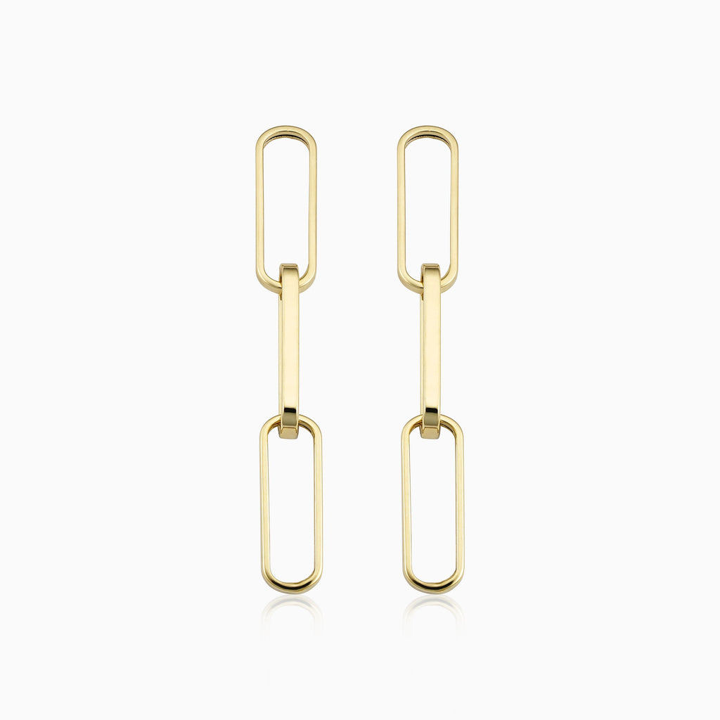 Venice Link Bold Drop Earrings