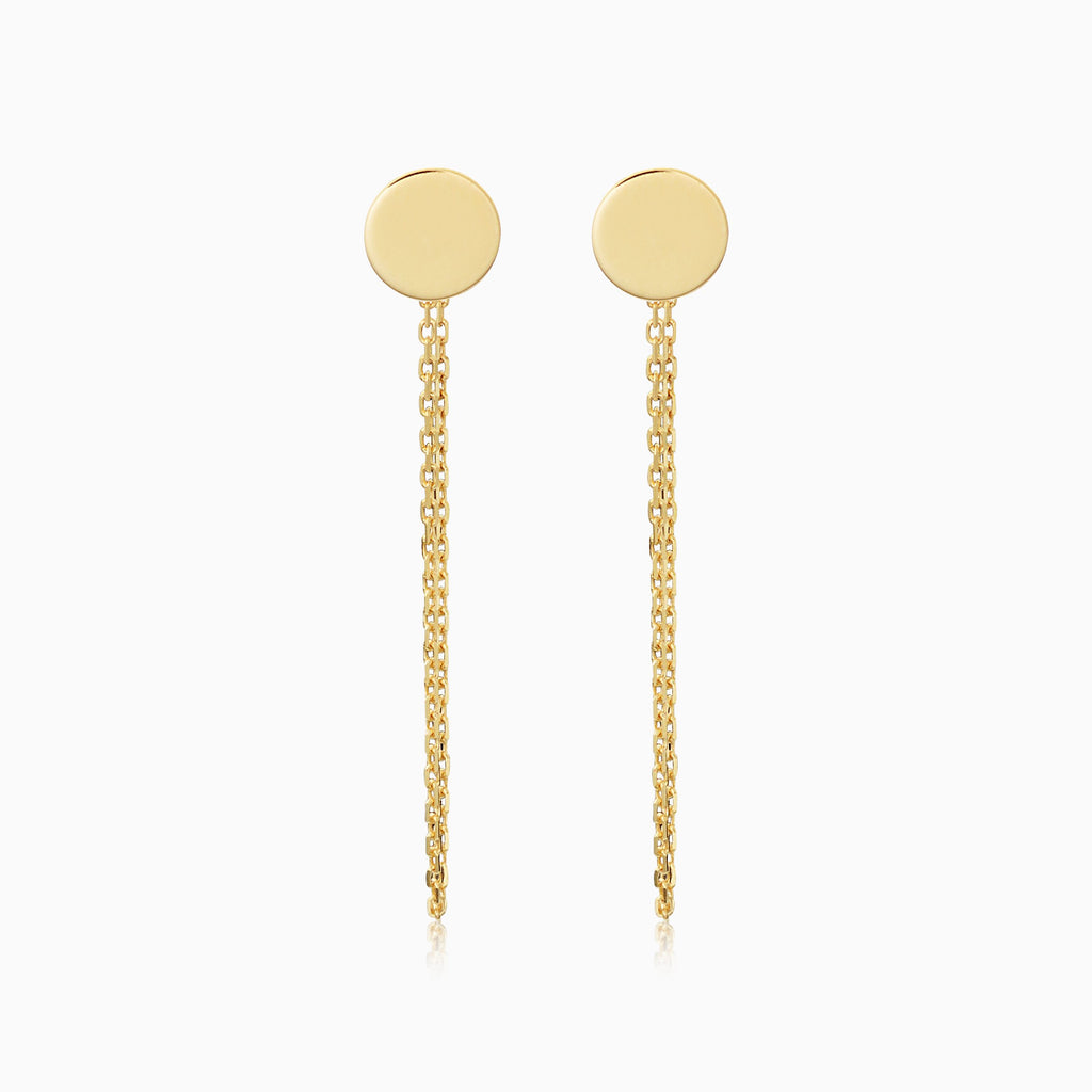 Draped in Gold Disc Earrings
