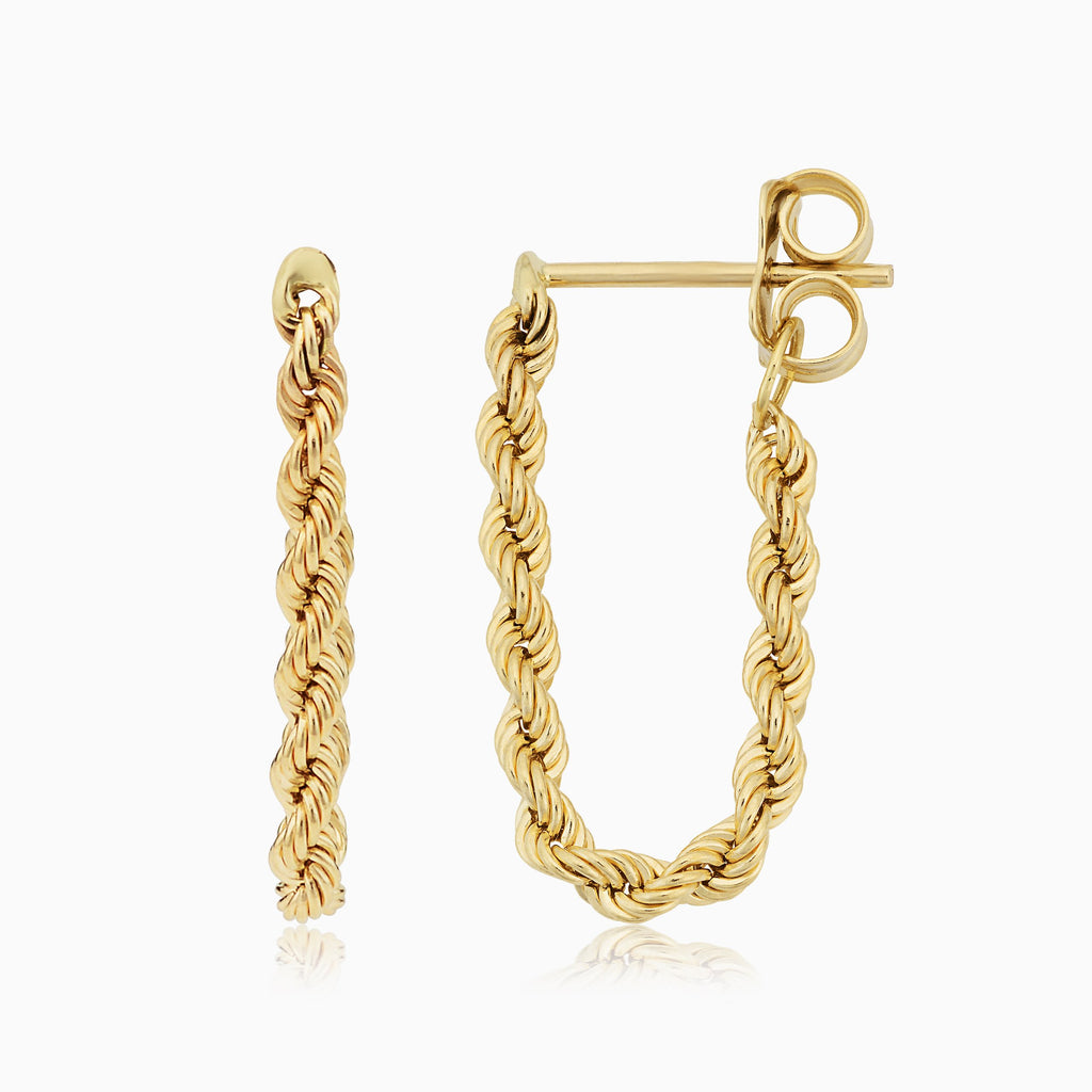 Roman Rope Drop Earrings