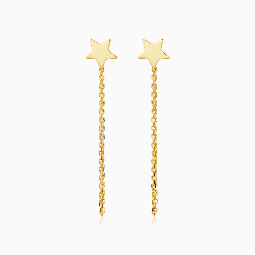 Draped In Gold Star Earrings