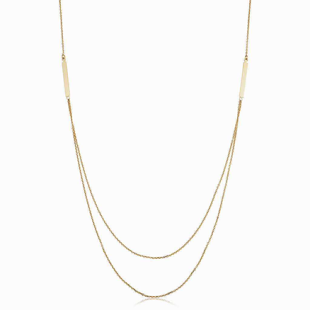 Brooklyn Bar Layered Necklace