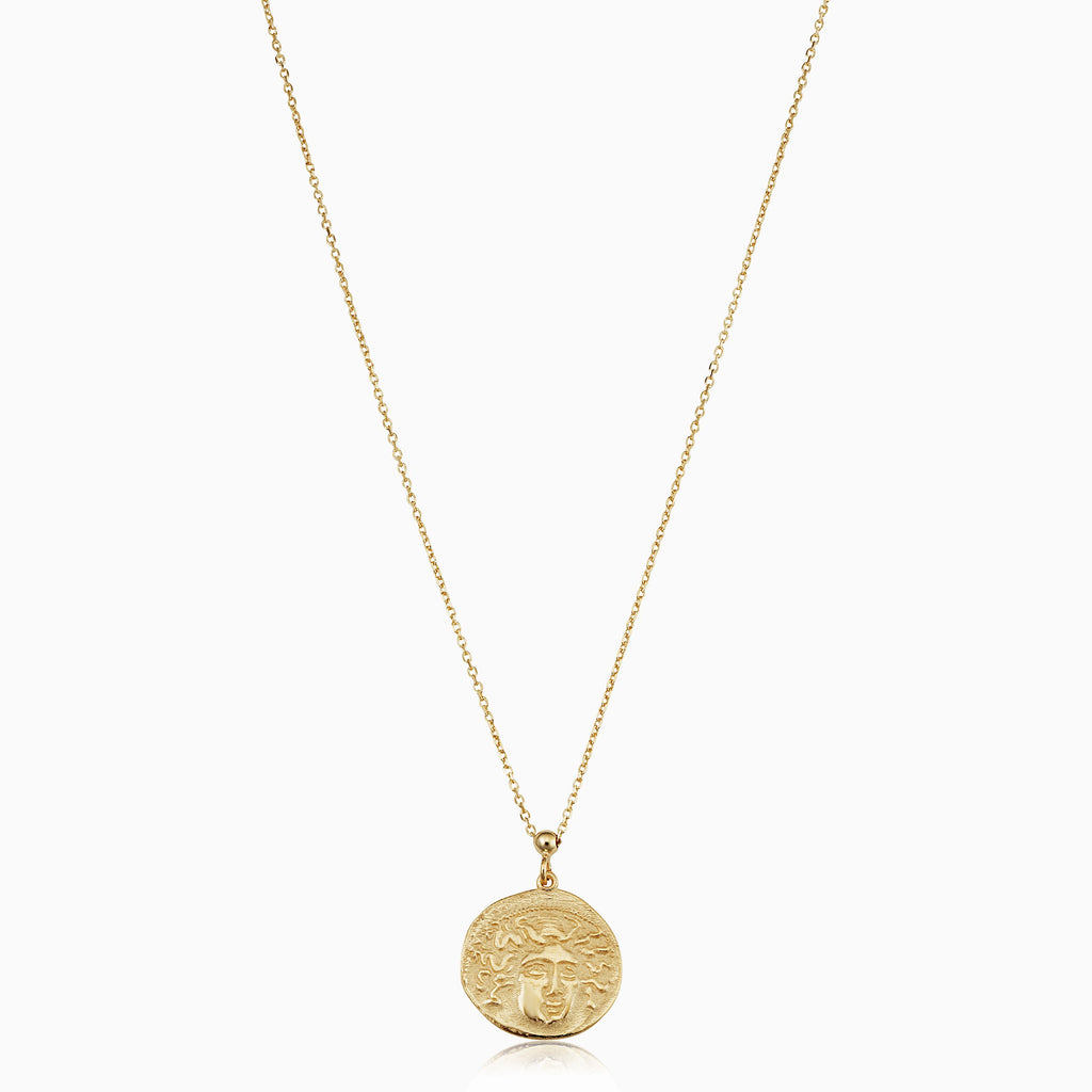 Greek Medusa Medallion Necklace