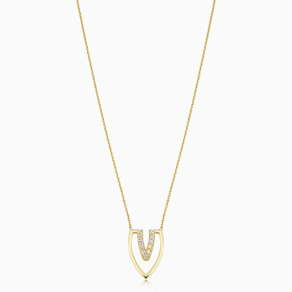 Embellished Wishbone Necklace