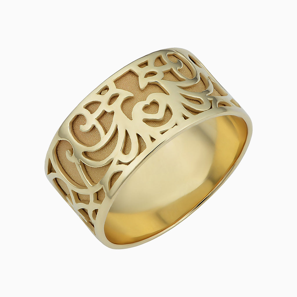 Lattice Cigar Band Ring