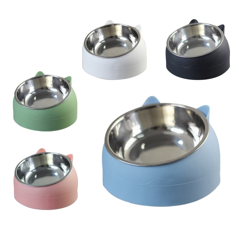Raised Cat Food And Water Bowls | Bibop Store