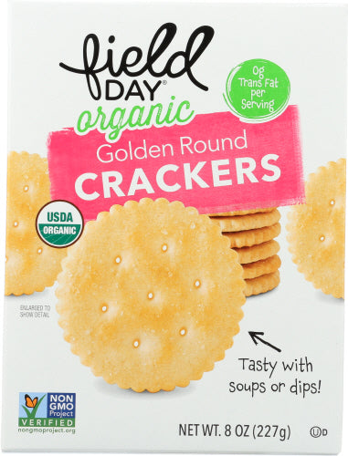 Golden Round Crackers