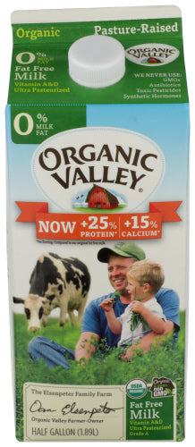 Organic Skim Milk, Half Gallon