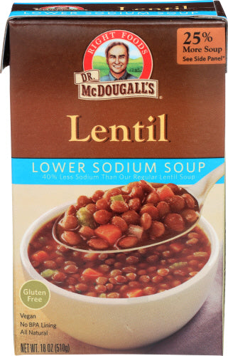 Lentil Soup, Low Sodium