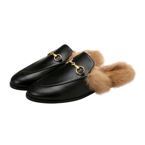 Dillon Plush Loafer Mules