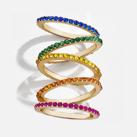 Evangeline Mini Rainbow Ring