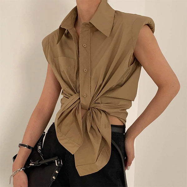 Naomi Shoulder Padded Shirt