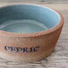 Load image into Gallery viewer, Custom Ceramic Dog Bowl or Cat Bowl, Personalized with Name