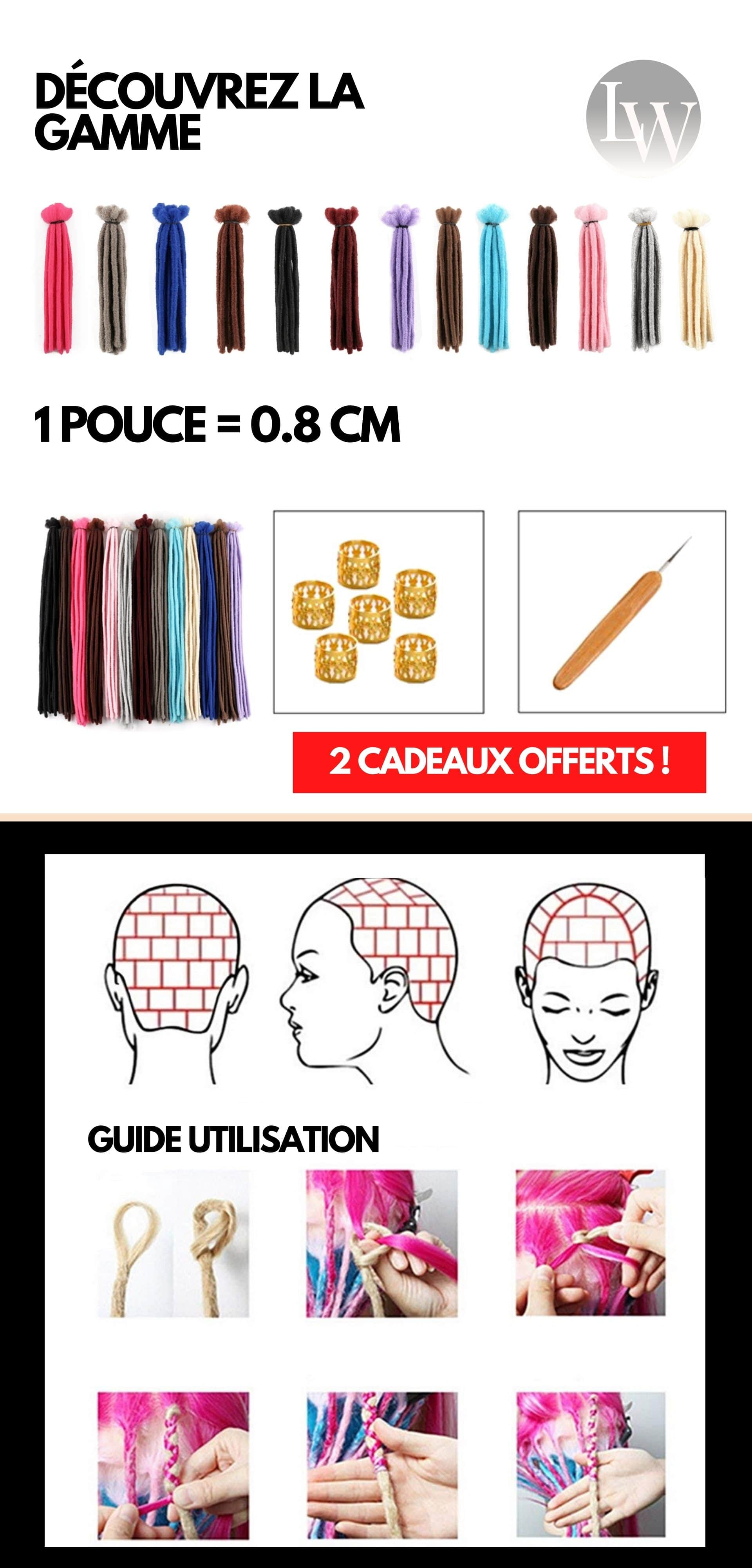 Fausse locks dreadlocks